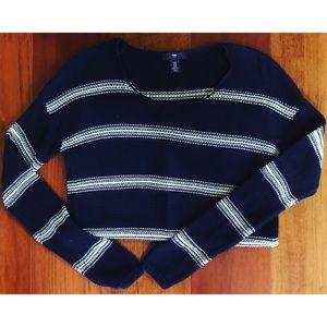 Gap Sweater Navy & White Stripes